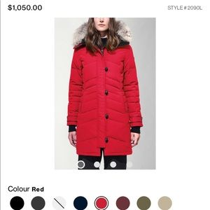 Gorgeous Canada Goose Red Parka